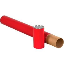 "Premium Telescoping Tubes 3"" x 24"", 0.125"" Thick, Red - Pkg Qty 24"