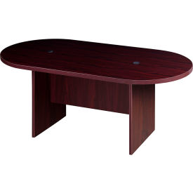 6' Racetrack Conference Table  - Mahogany