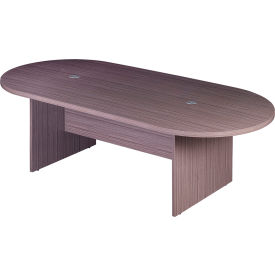 8' Racetrack Conference Table  - Gray