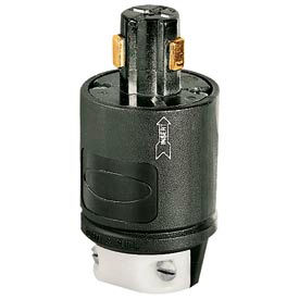 Bryant 23005G Power Interrupting Plug, Multi, Black/White