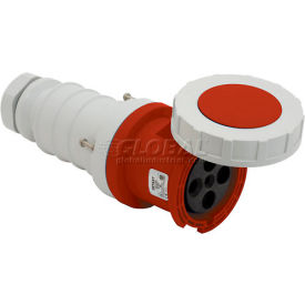 Bryant 3100C7W Connector, 2 Pole, 3 Wire, 100A, 480V AC, Red