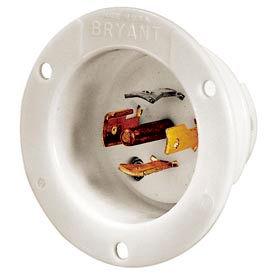 Bryant 40045MB TECHSPEC® Base, 20A, 3ph 120/208V AC 400Hz, White