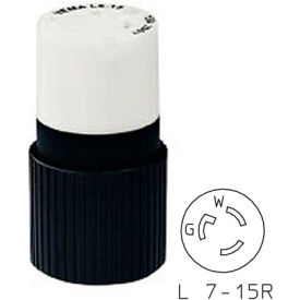 Bryant 4779NC TECHSPEC® Connector, L7-15, 15A, 277V AC, Black/White