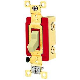 Bryant 4903I Industrial Grade Toggle Switch, Three Way, 20A, 120/277V AC, Ivory