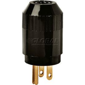 Bryant 5965B TECHSPEC® Straight Blade Plug, 15A, 125V, Black
