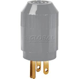 Bryant 5965BGRY TECHSPEC® Straight Blade Plug, 15A, 125V, Gray