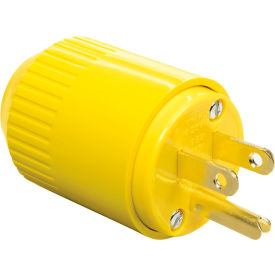 Bryant 5965BY TECHSPEC® Straight Blade Plug, 15A, 125V, Yellow Thermoplastic