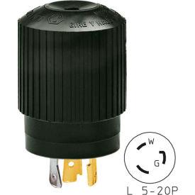 Bryant 70520NPB TECHSPEC® Plug, L5-20, 20A, 125V, Black