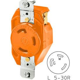 Bryant 70530IG TECHSPEC® Receptacle, L5-30, 30A, 125V, Orange