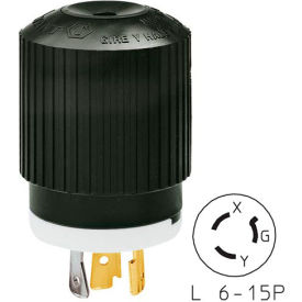 Bryant 70620NP TECHSPEC® Plug, L6-20, 20A, 250V, Black/White
