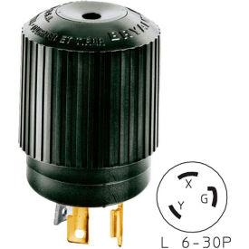 Bryant 70630NPB TECHSPEC® Plug, L6-30, 30A, 250V, Black