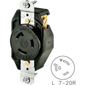 Bryant 70720FR TECHSPEC® Single Receptacle, L7-20, 20A, 277V AC, Black