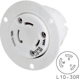 Bryant 71030ER TECHSPEC® Receptacle, L10-30, 30A, 125/250V, White