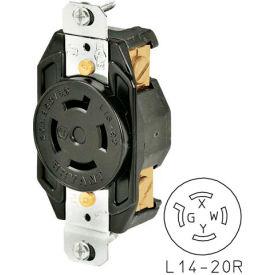 Bryant 71420IG TECHSPEC® Receptacle, L14-20, 20A, 125/250V, Orange