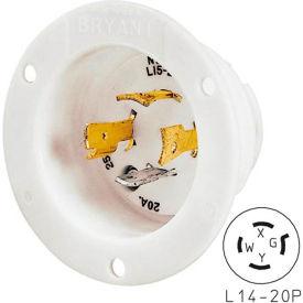 Bryant 71420MB TECHSPEC® Base, L14-20, 20A, 125/250V, White
