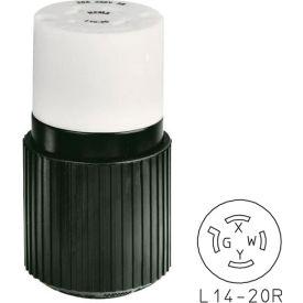 Bryant 71420NC TECHSPEC® Connector, L14-20, 20A, 125/250V, Black/White