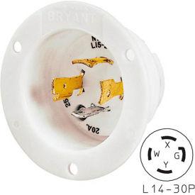 Bryant 71430MB TECHSPEC® Base, L14-30, 30A, 125/250V, White