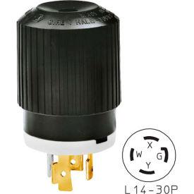 Bryant 71430NP TECHSPEC® Plug, L14-30, 30A, 125/250V, Black/White