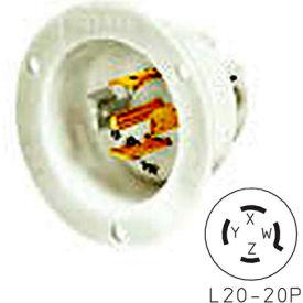 Bryant 72020MB TECHSPEC® Base, L20-20, 20A, 3ph 347/600V AC, White