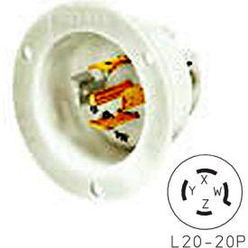 Bryant 72030MB TECHSPEC® Base, L20-30, 30A, 3ph 347/600V AC, White