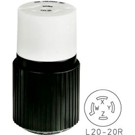 Bryant 72120NC TECHSPEC® Connector, L21-20, 20A, 3ph 120/208V AC, Black/White