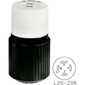 Bryant 72120NCB TECHSPEC® Connector, L21-20, 20A, 3ph 120/208V AC, Black