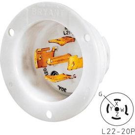 Bryant 72220MB TECHSPEC® Base, L22-20, 20A, 3ph 277/480V AC, White