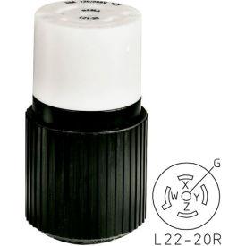 Bryant 72230NC TECHSPEC® Connector, L22-30, 30A, 3ph 277/480V AC, Black/White