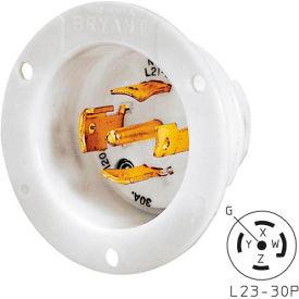 Bryant 72330MB TECHSPEC® Base, L23-30, 30A, 3ph 347/600V AC, White