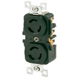 Bryant 7580DR TECHSPEC® Duplex RCPT, 3P3W, 15A125/10A250V, Multi, Black