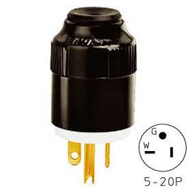 Bryant 8366T TECHSPEC® Straight Blade Plug, 20A, 125V, Clear, Polycarbonate