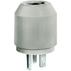 Bryant 9650NP Straight Blade Plug, 50A, 250V, Gray