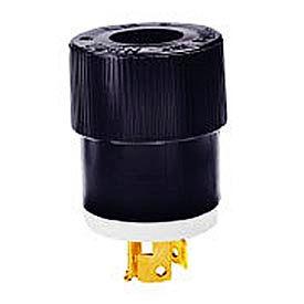 Bryant 9965NB Locking Device Plug, 20A, 125/250V, White