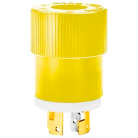 Bryant 9967NSY Locking Device Plug, 20A, 3ph 120/208V AC, Yellow