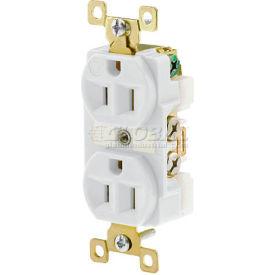 Bryant BRY5262W TECHSPEC® Industrial Grade Duplex Receptacle, 15A, 125V, White