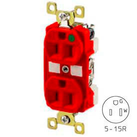Plugs Receptacles Straight Blade Devices Bryant Bry8200red