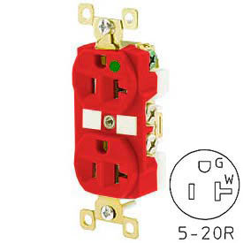 Plugs Receptacles Straight Blade Devices Bryant Bry8300red