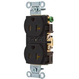 Bryant CRS20BLK Commercial Grade Duplex Receptacle, 20A, 125V, Black
