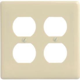 Bryant NP82AL Duplex Plate, 2-Gang, Standard, Almond Nylon