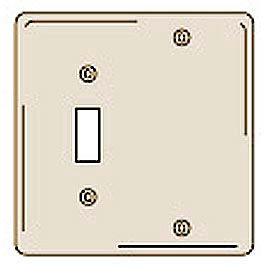 Bryant NPJ113I Toggle Blank Combo Plate, 2-Gang, Mid-Size, Ivory Nylon