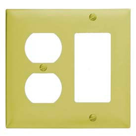 Bryant SB826 Duplex Styleline Combo Plate, 2-Gang, Standard, Brass