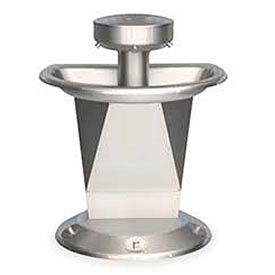 Bradley Wash Fountain, Semi-Circular,Raising Vent, Series SN2003, 3 Person
