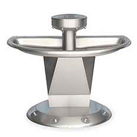 Bradley Wash Fountain, Semi-Circular,Raising Vent, Series SN2004, 4 Person