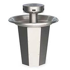 Bradley Wash Fountain, Circular, 110/24 VAC, Series SN2005, 5 Person