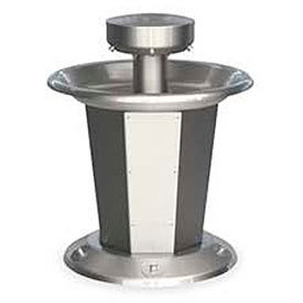 Bradley Wash Fountain, Circular, Raising Vent, Series SN2005, 5 Person