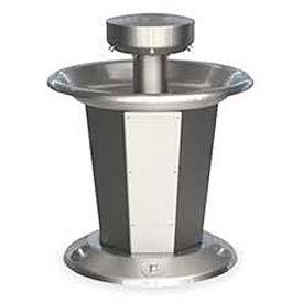 Bradley Wash Fountain, Circular, Raising Vent, Series SN2005, 5 Person