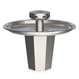 Bradley Wash Fountain, Circular, 110/24 VAC, Series SN2008, 8 Person Sink