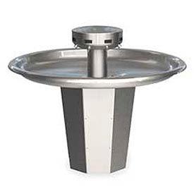 Bradley Wash Fountain, Circular, 110/24 VAC, Series SN2008, 8 Person Sink