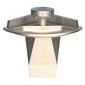 Bradley Wash Fountain, Off-line Vent, Corner, Series SN2013, 3 Person