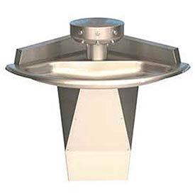Bradley Wash Fountain, Corner, Raising Vent, Series SN2013, 3 Person Sink
